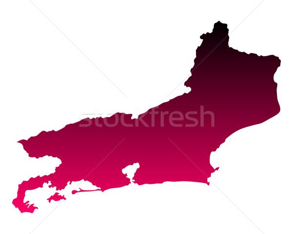Mapa Rio de Janeiro viajar rosa roxo vetor Foto stock © rbiedermann