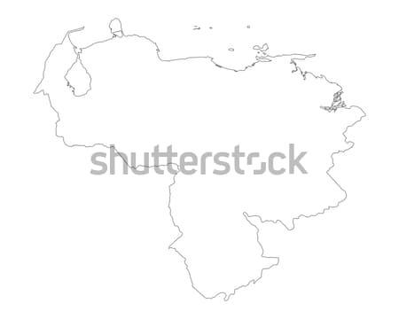 Térkép Venezuela háttér izolált illusztráció Stock fotó © rbiedermann