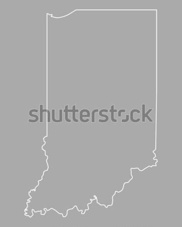 Kaart Indiana achtergrond lijn USA Stockfoto © rbiedermann