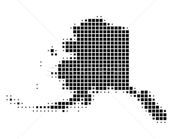 Térkép Alaszka fekete minta USA tér Stock fotó © rbiedermann
