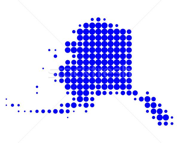 Carte Alaska bleu modèle Amérique cercle Photo stock © rbiedermann