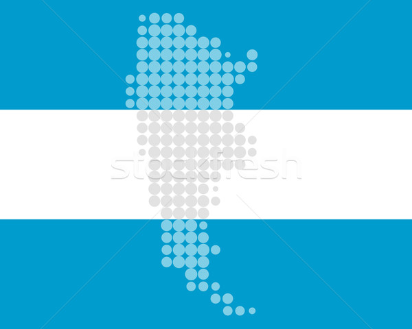 карта флаг Аргентина синий путешествия шаблон Сток-фото © rbiedermann