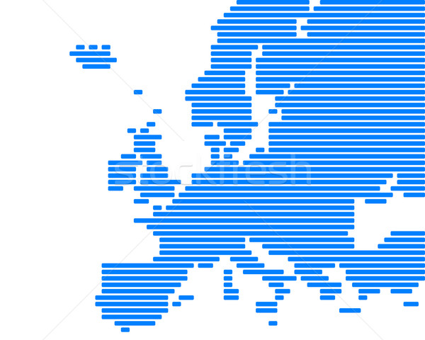 Carte Europe bleu ligne lignes point Photo stock © rbiedermann