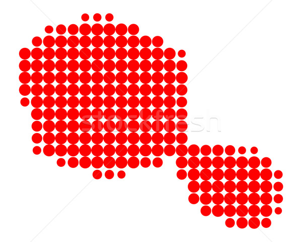 карта Таити красный шаблон круга точки Сток-фото © rbiedermann