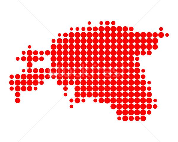 Kaart Estland patroon cirkel punt Stockfoto © rbiedermann