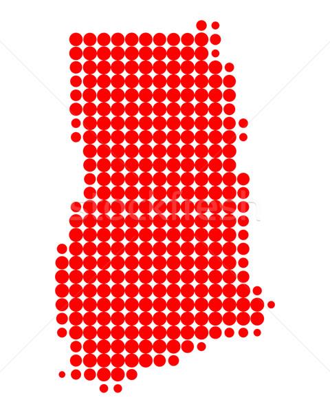 карта Гана красный шаблон круга точки Сток-фото © rbiedermann