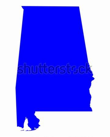 Harita Alabama mavi seyahat Amerika ABD Stok fotoğraf © rbiedermann