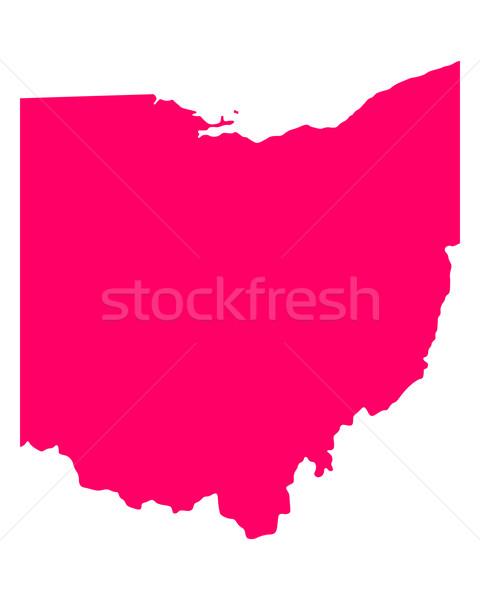 Térkép Ohio utazás Amerika lila izolált Stock fotó © rbiedermann