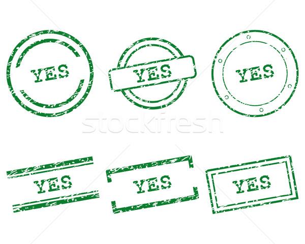 Tak znaczków pieczęć graficzne tag pieczęć Zdjęcia stock © rbiedermann