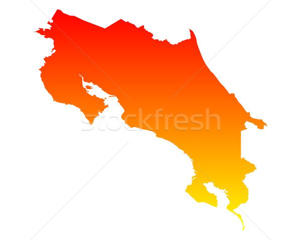 Térkép Costa Rica vektor izolált Stock fotó © rbiedermann