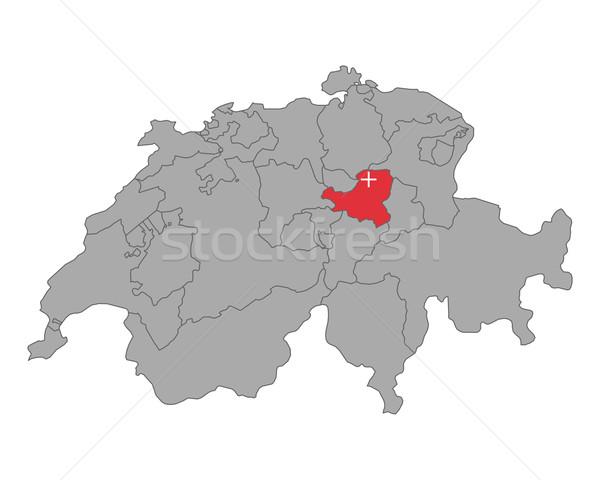 地図 スイス フラグ バナー ベクトル 孤立した ストックフォト © rbiedermann