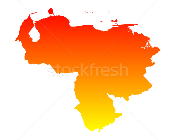 Map of Venezuela Stock photo © rbiedermann