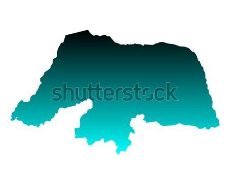 Сток-фото: карта · Рио · зеленый · синий · путешествия · вектора
