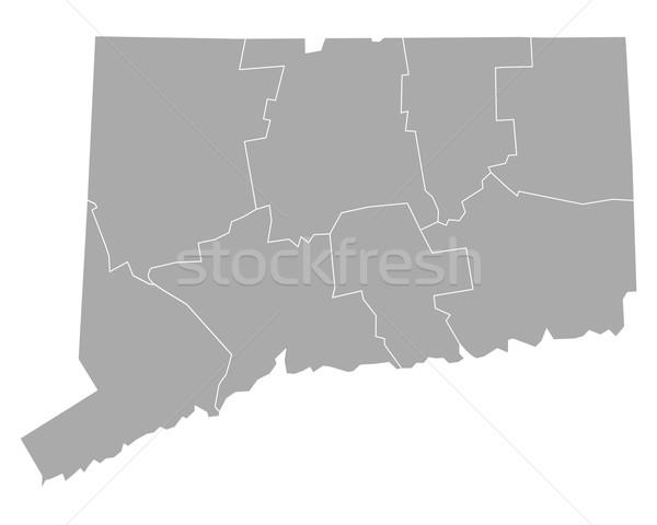 Harita Connecticut arka plan hat vektör örnek Stok fotoğraf © rbiedermann