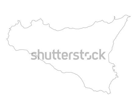 Сток-фото: карта · вектора · Испания · изолированный · иллюстрация · серый