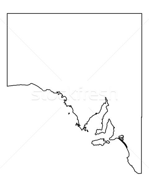 Mapa sul da austrália Austrália isolado ilustração cinza Foto stock © rbiedermann