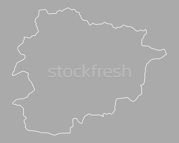 Kaart Andorra achtergrond geïsoleerd illustratie Stockfoto © rbiedermann