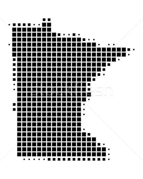 Harita Minnesota siyah model Amerika kare Stok fotoğraf © rbiedermann