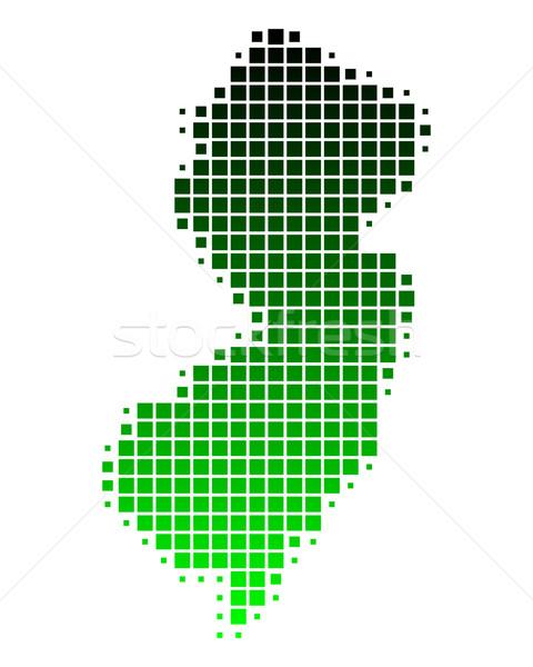 Kaart New Jersey groene patroon amerika vierkante Stockfoto © rbiedermann