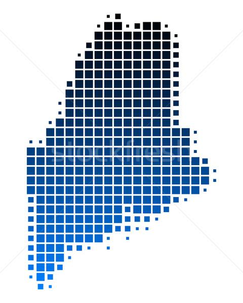 Pokaż Maine niebieski wzór Ameryki placu Zdjęcia stock © rbiedermann