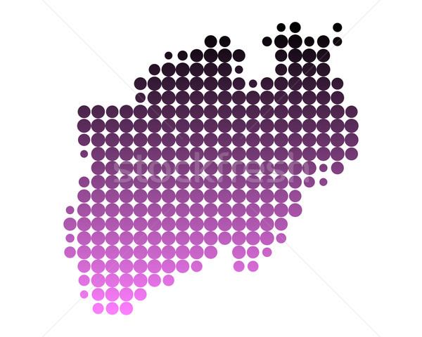 ストックフォト: 地図 · 北 · パターン · ピンク · サークル · ポイント