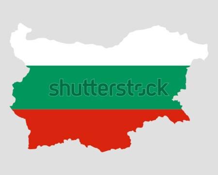 карта флаг Болгария фон путешествия Сток-фото © rbiedermann