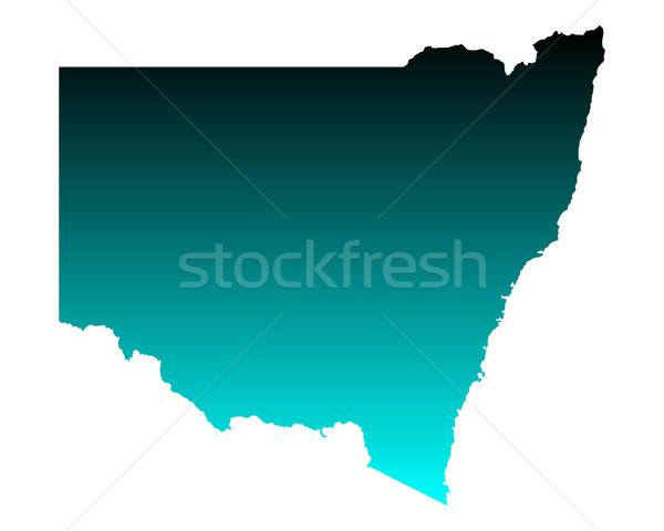 地図 ニューサウスウェールズ州 緑 青 ベクトル オーストラリア ストックフォト © rbiedermann