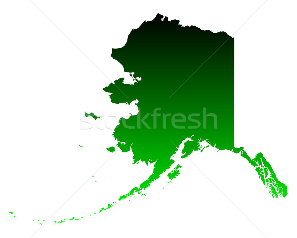 Mapa Alasca verde viajar américa EUA Foto stock © rbiedermann