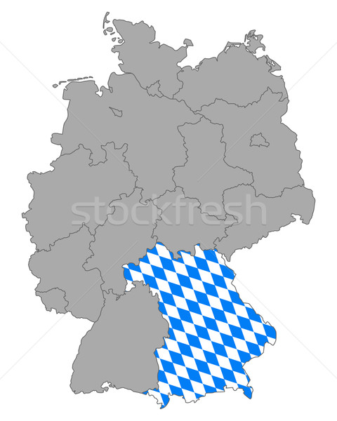 Map of Germany with flag of Bavaria Stock photo © rbiedermann
