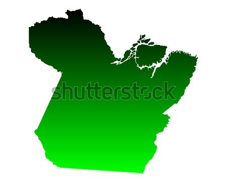 Harita Minnesota yeşil seyahat Amerika ABD Stok fotoğraf © rbiedermann