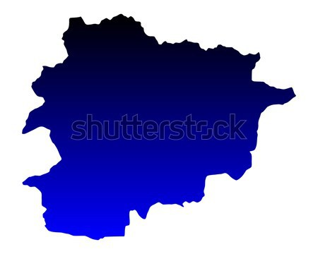 Karte Andorra blau Reise Vektor Stock foto © rbiedermann