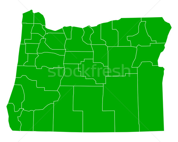 карта Орегон фон зеленый линия вектора Сток-фото © rbiedermann