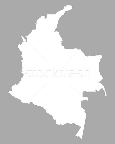 Térkép Colombia háttér vonal Stock fotó © rbiedermann