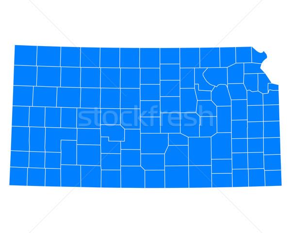 Harita Kansas arka plan mavi hat ABD Stok fotoğraf © rbiedermann
