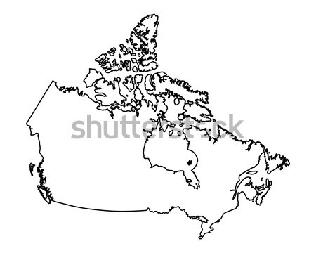 Mapa Canadá isolado ilustração Foto stock © rbiedermann
