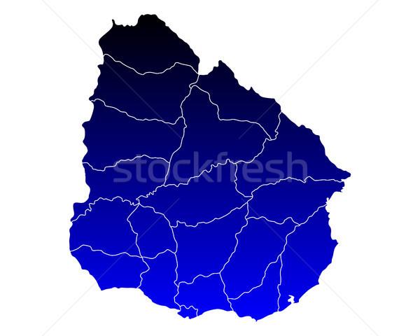 地図 背景 青 行 ベクトル 実例 ストックフォト © rbiedermann