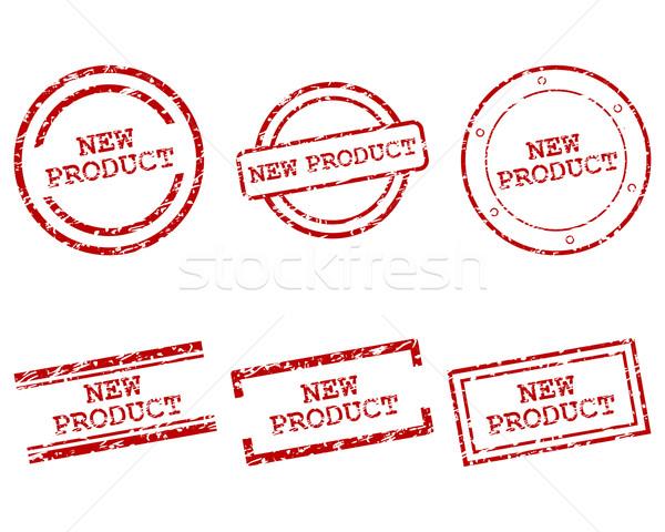 Stok fotoğraf: Yeni · ürün · pulları · damga · bağbozumu · grafik