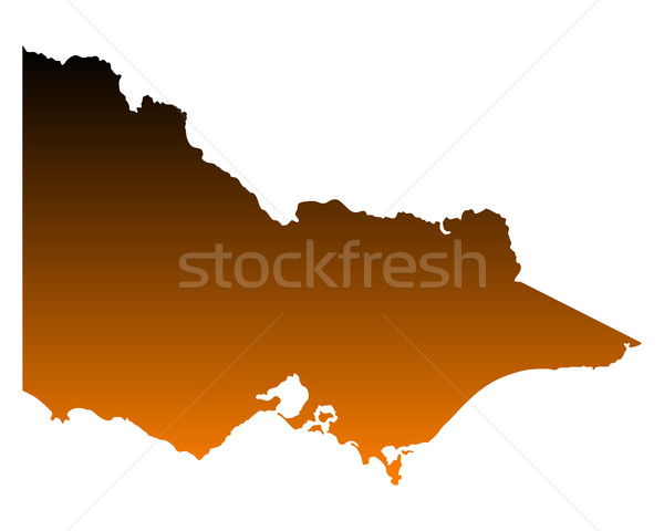 Karte Vektor Australien isoliert Illustration braun Stock foto © rbiedermann