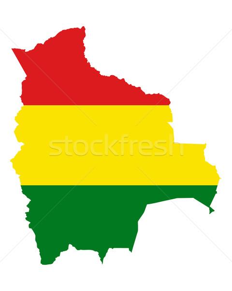 Térkép zászló Bolívia háttér utazás Stock fotó © rbiedermann