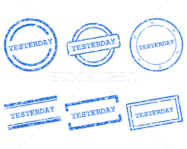Hier timbres design lettre tampon tag Photo stock © rbiedermann