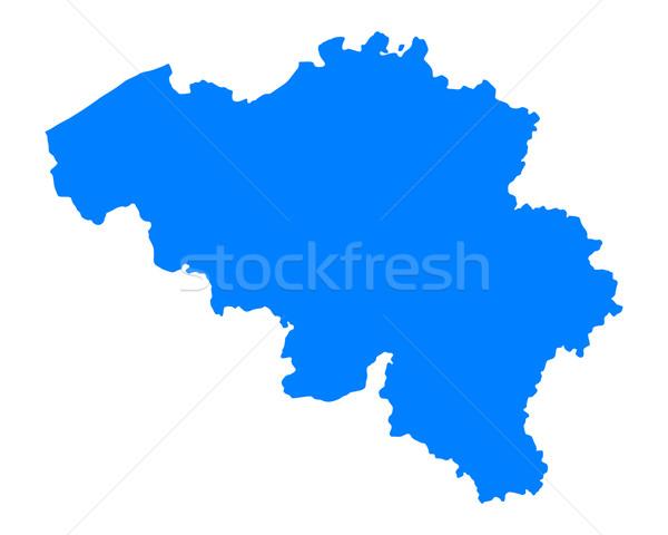 Mapa Bélgica azul viaje vector Foto stock © rbiedermann