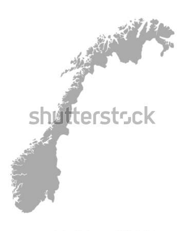 Térkép Norvégia fekete vektor izolált Stock fotó © rbiedermann