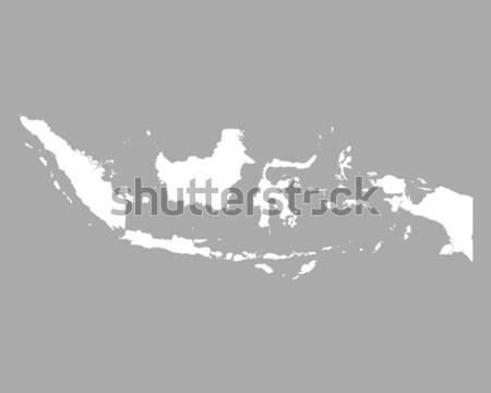 Mapa Indonésia fundo linha Foto stock © rbiedermann