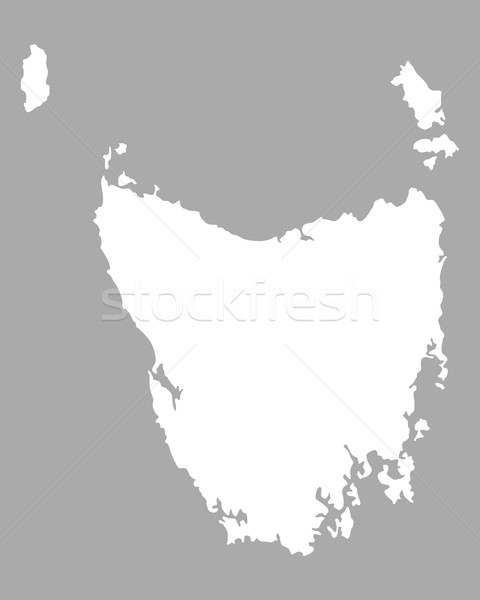 Carte tasmanie vecteur isolé illustration gris Photo stock © rbiedermann