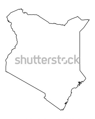 Térkép Kenya vektor izolált szürke Stock fotó © rbiedermann