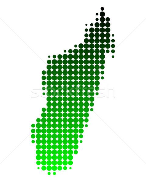 Map of Madagascar Stock photo © rbiedermann