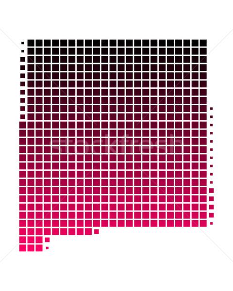 карта Нью-Мексико шаблон розовый Америки Purple Сток-фото © rbiedermann