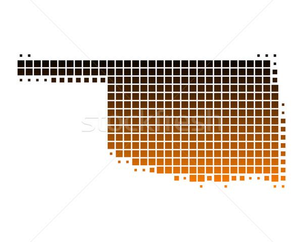 Stockfoto: Kaart · Oklahoma · patroon · amerika · vierkante · illustratie