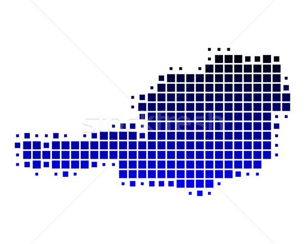 地図 オーストリア 青 旅行 パターン 広場 ストックフォト © rbiedermann