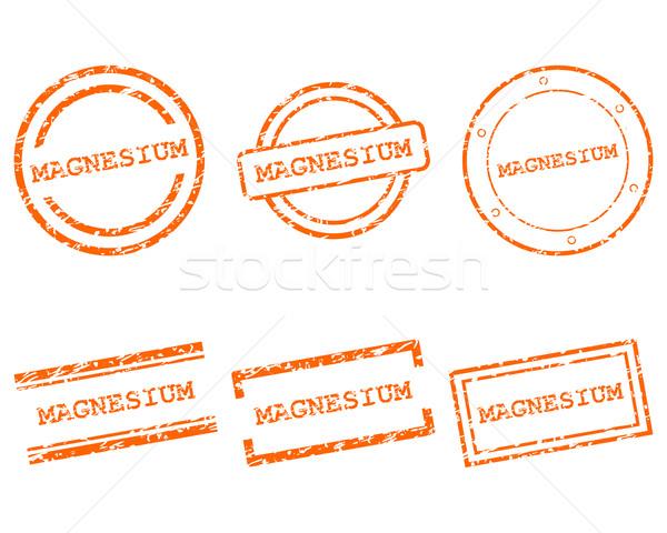 Magnesium postzegels winkelen brief stempel grafische Stockfoto © rbiedermann